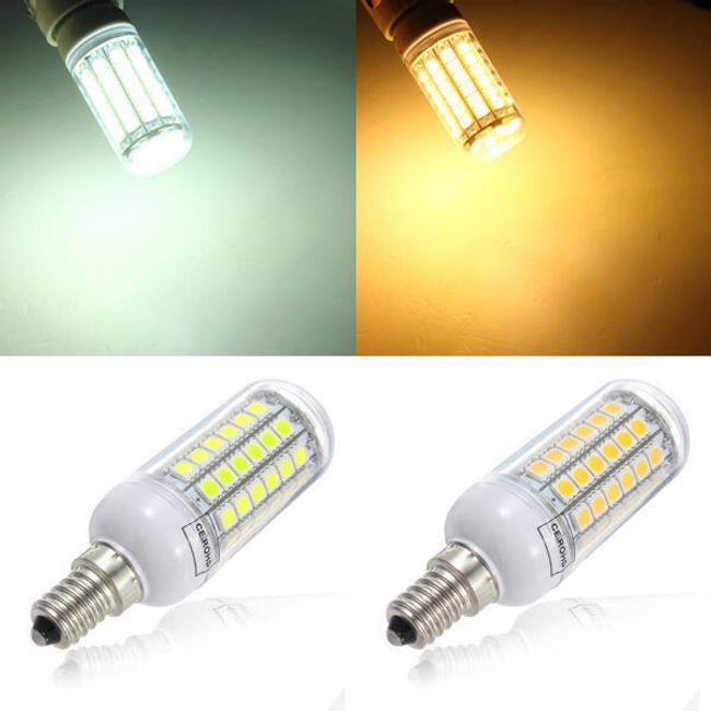 5,5 W LED żarówka z 69 LED diodami - 2 kolory światła (gwint E14) 1