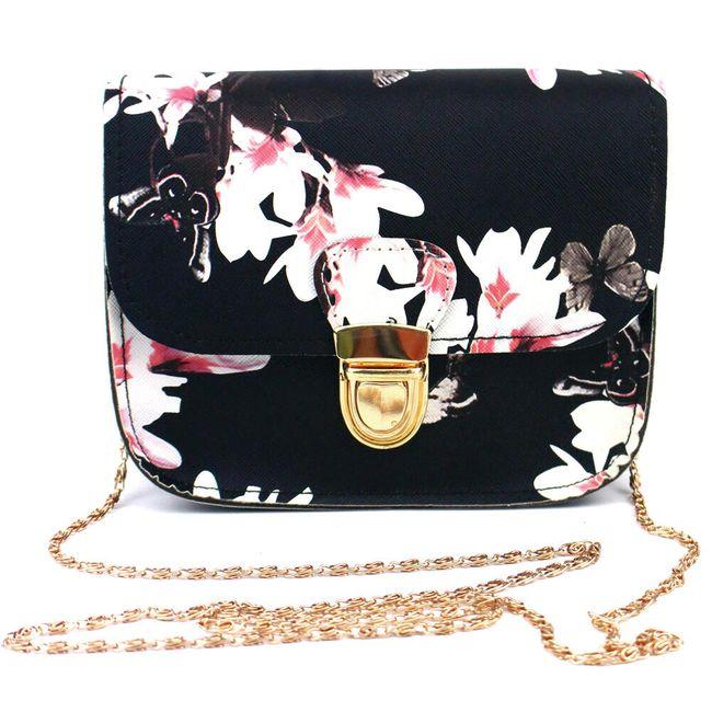 Ženska torbica z nežnim cvetličnim motivom 1