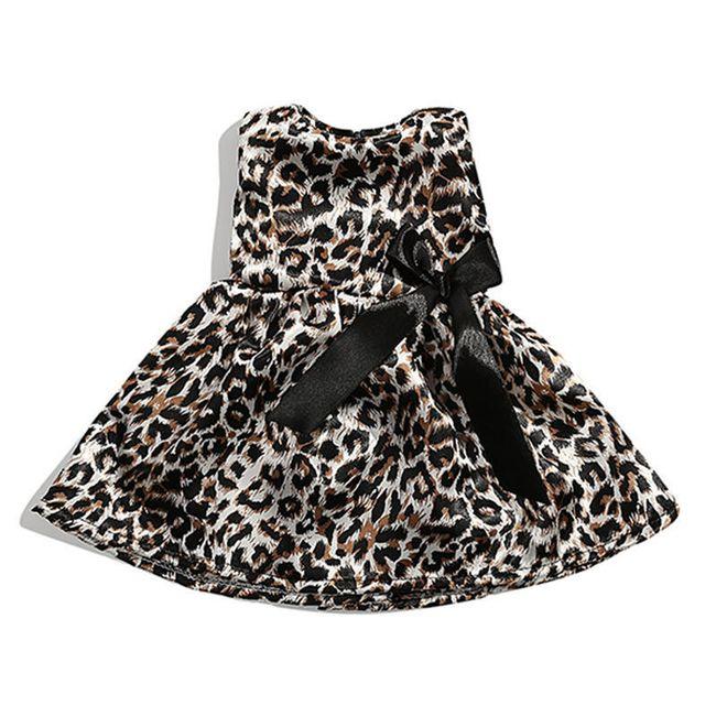 Леопардовое коктейльное платье для  куклы 1