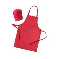 Zástera a detská kuchynská čiapka (2 ks) Červená PD_1331500