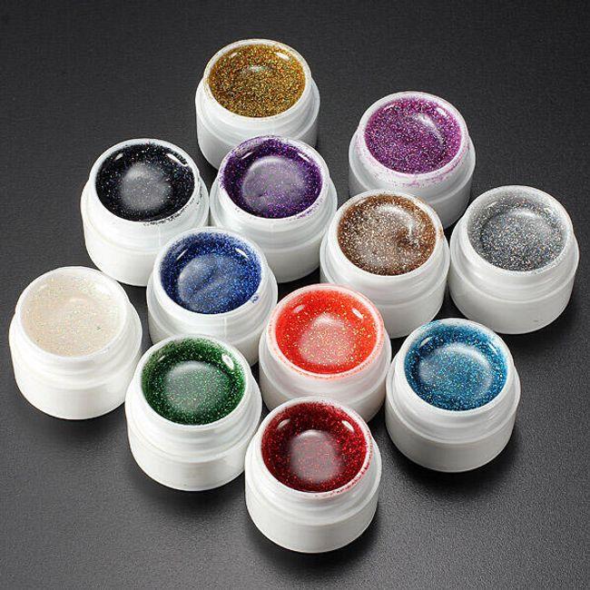 12 kolorów - żel na paznokcie 1