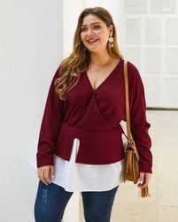 Sweter damski z długim rękawem EA_606467756564