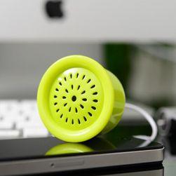 Mini reproduktor ve tvaru zvonku