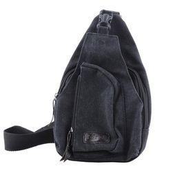 Pánská taška přes rameno - černá barva