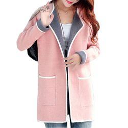 Cardigan elegant pentru femei - 3 culori/6 dimensiuni Roz deschis-mărimea 6