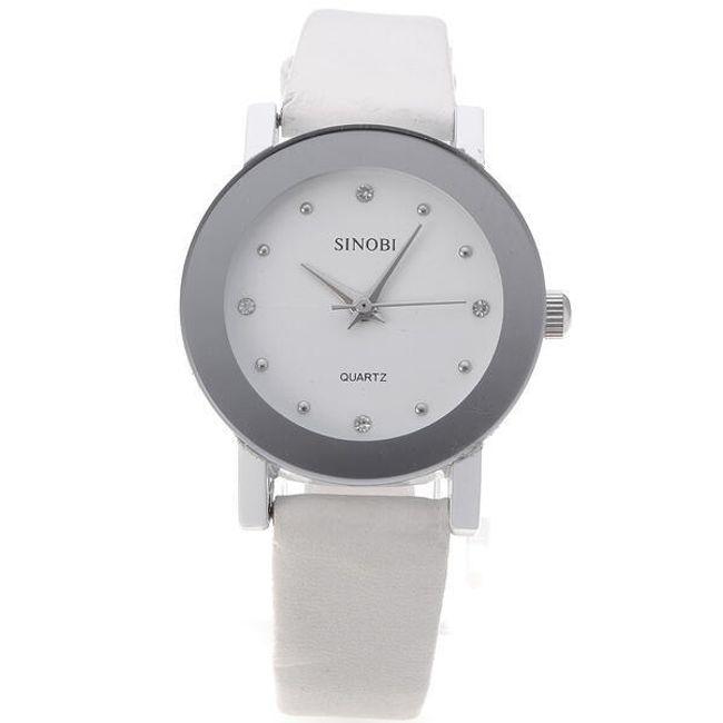 Dámské elegantní hodinky s kamínky - bílé 1