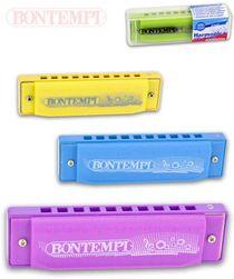 BONTEMPI Harmonika dětská foukací 11cm kov různé barvy *HUDEBNÍ NÁSTROJE* SR_DS17004303