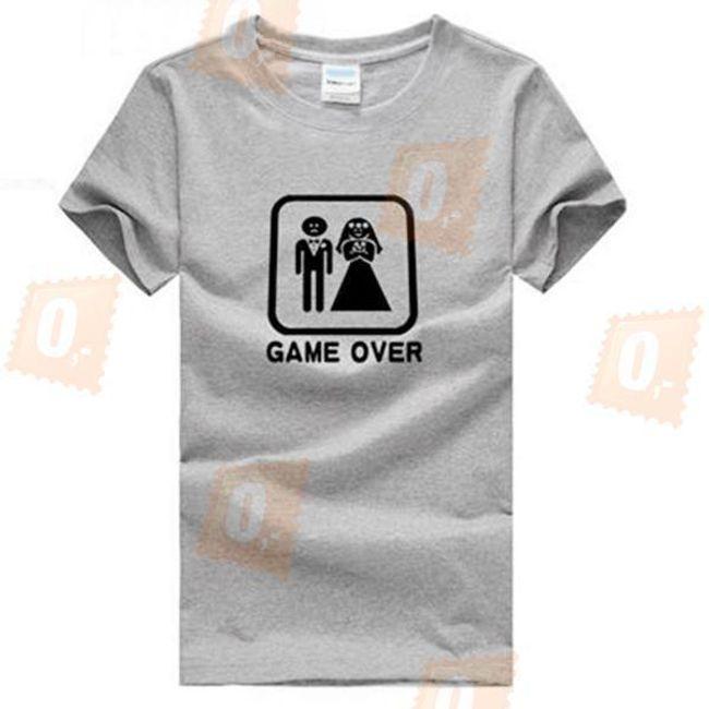 Šedé triko GAME OVER  1
