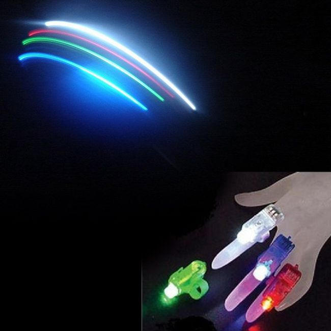 LED světlo na párty - nástavec na prsty 1