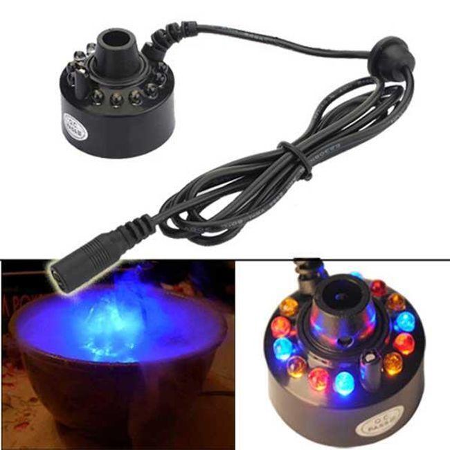 Zvlhčovač vzduchu s LED podsvícením, který tvoří barevnou mlhu 1