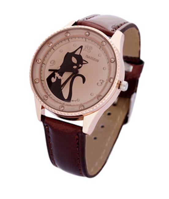 Damski zegarek z kotkiem 1