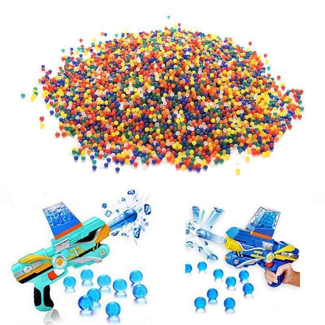 Barevné vodní kuličky na paintball - 10 000 ks 1