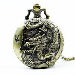 Ceas de buzunar cu motiv de dragon chinezesc