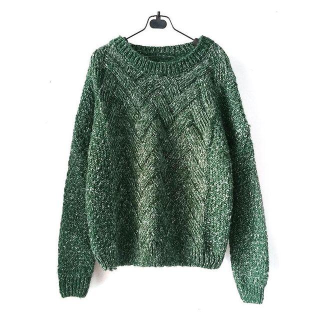 Dámský svetr s obdélníkovým vzorem - 6 barev 1