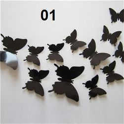 12 öntapadó pillangó a falra - különböző színekben 01