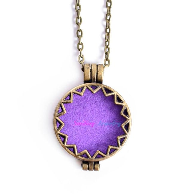 Ogrlica z aromatičnimi vložki v barvah 1