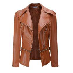 Stilska kožna jakna za žene