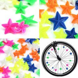 Свето-отражательные элементы декора для колес велосипеда
