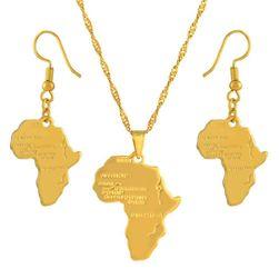 Женское колье с серьгами Afrika