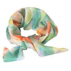 Hedvábný malovaný šátek Květinový akvarel