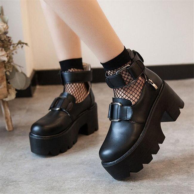 Damskie buty na platformie TF9300 1