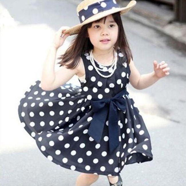 Haljine za devojčice sa polka tačkama 1
