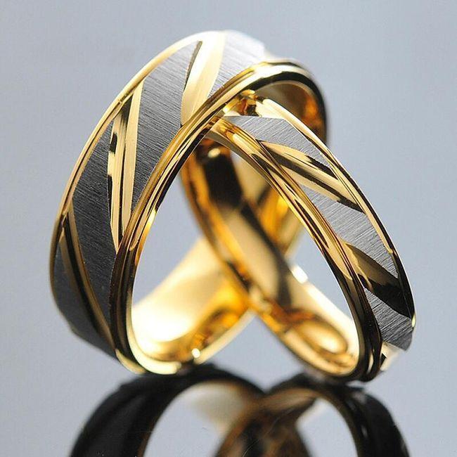 Snubní prsten - dámská i pánská verze- Pánský (6 mm), vel. 9 1