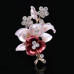 Ženski broš u obliku cveta ruže