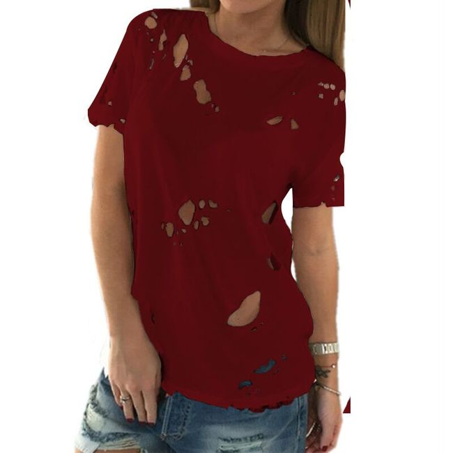 Női szakadt trikó - 5 színben