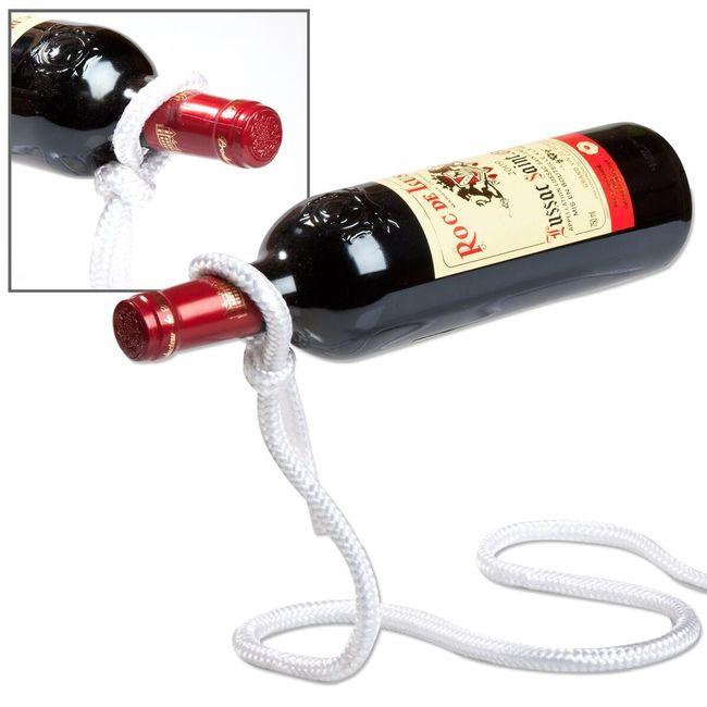 Designový držák na víno laso 1