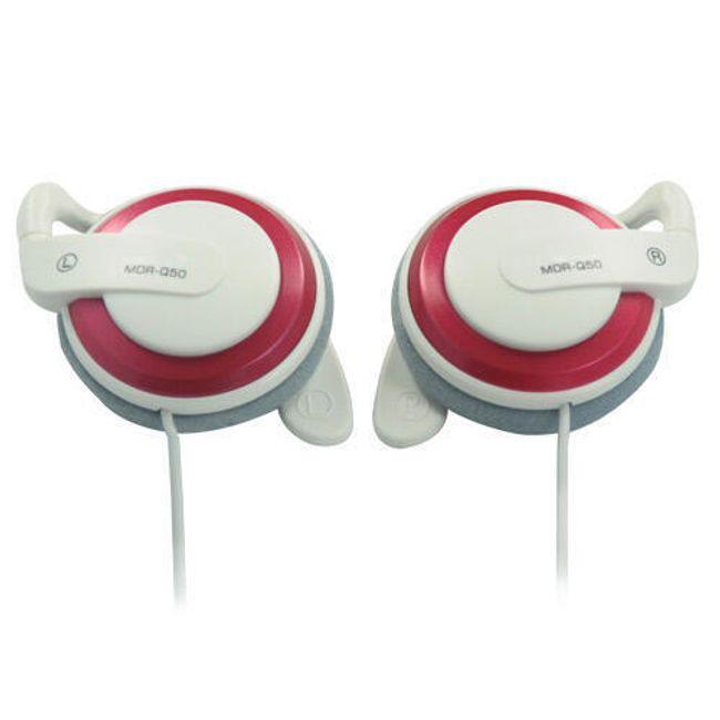 Stereo sluchátka Earhook 3,5mm - červenobílá 1