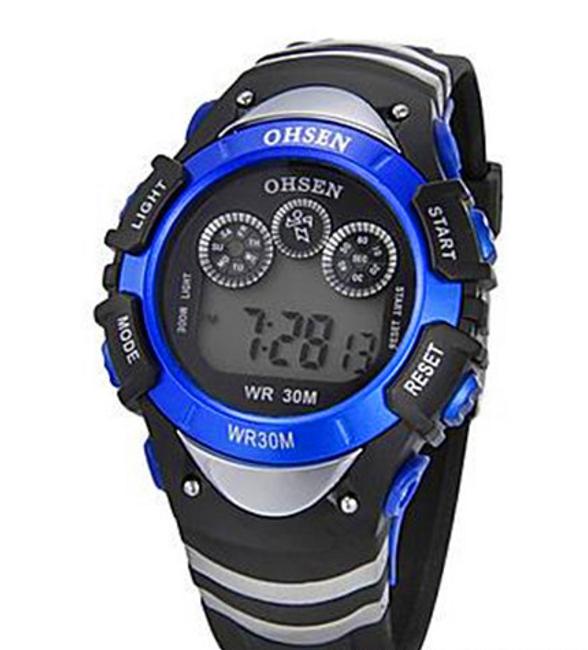 Pánské sportovní digitální hodinky s alarmem - 7 barev podsvícení 1