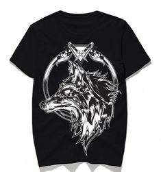 Pánské tričko s vlkem - 2 barvy