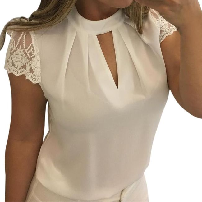 Ženska bluza sa čipkastim rukavima - 4 boje 1