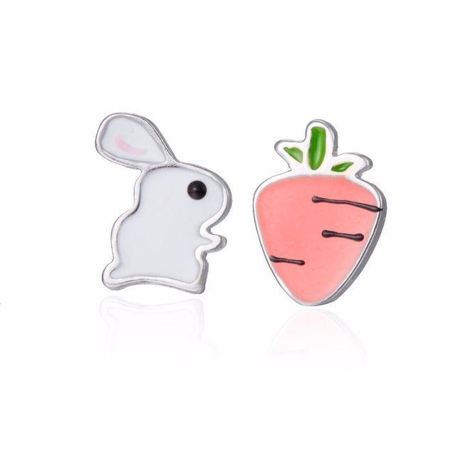 Náušnice s králíčkem a mrkví 1