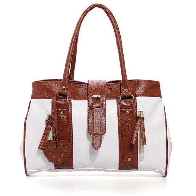 Dámská hnědo-bílá kabelka 1