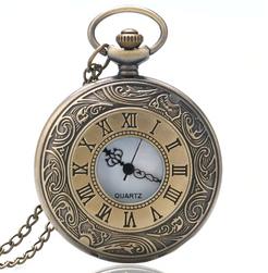 Kapesní hodinky v bronzové barvě s římskými čísly