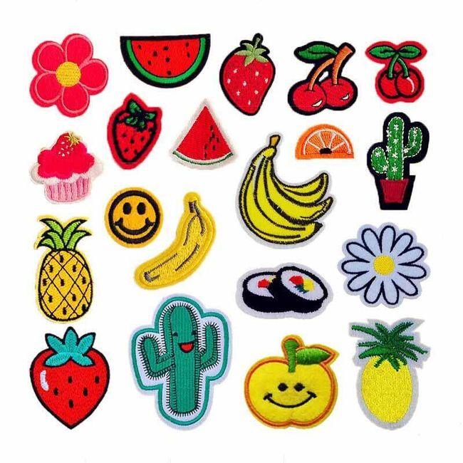 Embleme pentru haine pentru copii cu motive vesele - 20 bucăți 1