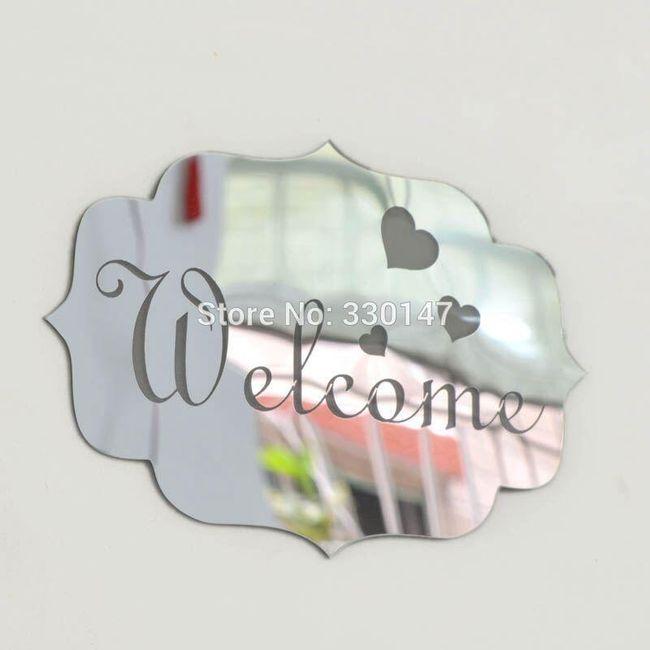 Lustrzana naklejka do Twojego wnętrza welcome - 2 kolory 1