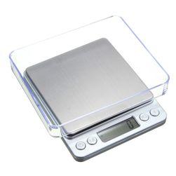 Digitális mérleg LCD-kijelzővel, konyhai vagy ékszer- és egyéb árukhoz - 2000 g