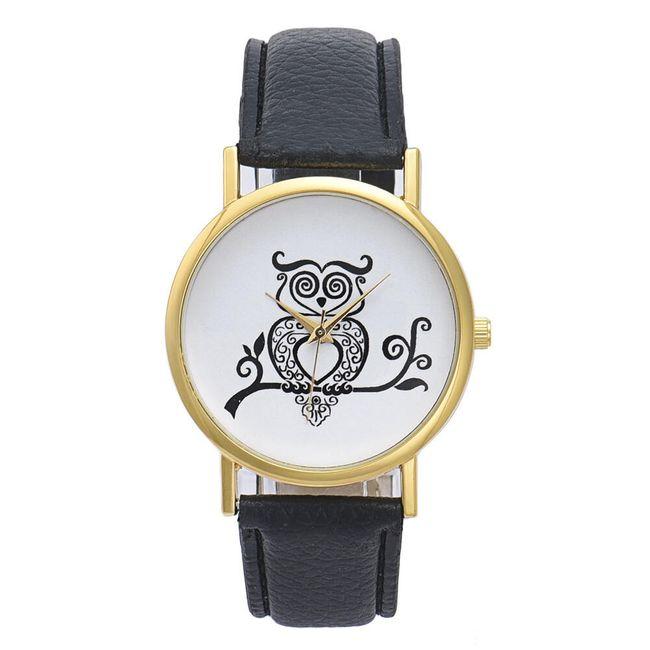 Dámské hodinky s černobílou sovičkou 1