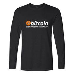 Koszulka z długim rękawem i logo Bitcoin
