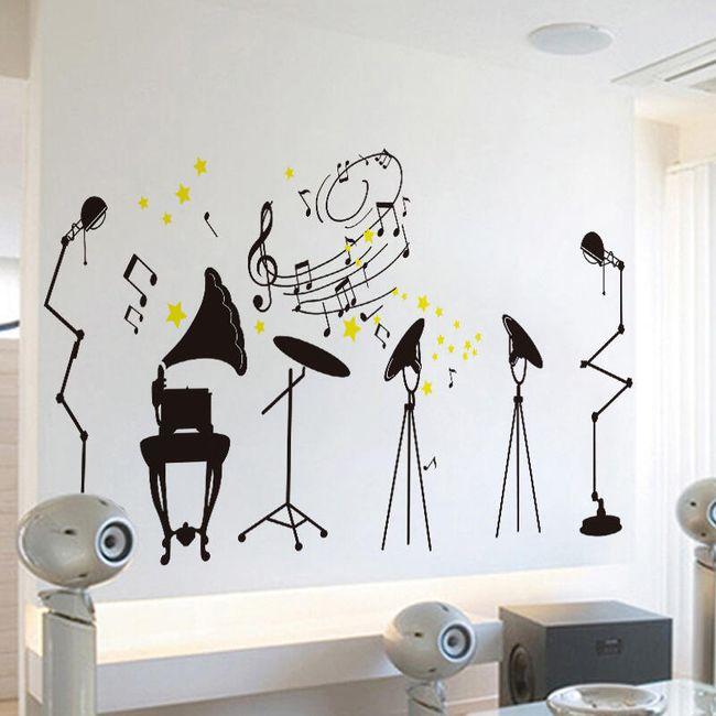 Samolepka na zeď - hudební motivy 1