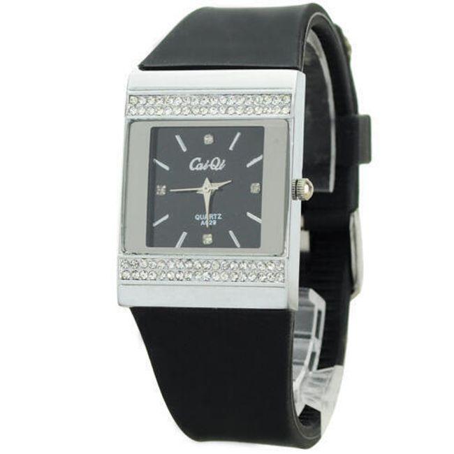 Elegantní silikonové hodinky - černé 1