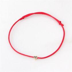 Romantična jednostavna narukvica sa srcem - 6 boja