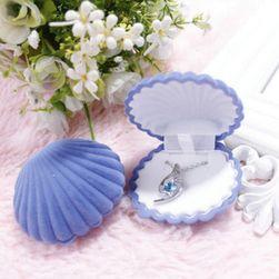 Подарочная шкатулка для украшений в форме ракушки- 5 расцветок