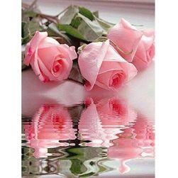 DIY kép strasszokból - rózsákból