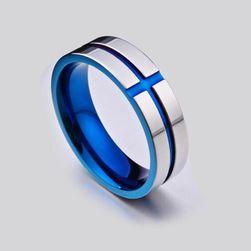 Inel pentru bărbați - albastru
