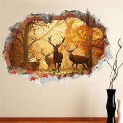 3D nalepnica za zid - jeleni