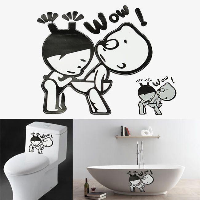 Оригинальная наклейка для ванной комнаты 1
